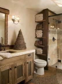 Rustic Bathroom Ideas Pinterest Decoracion De Ba 241 Os Peque 241 Os Rusticos
