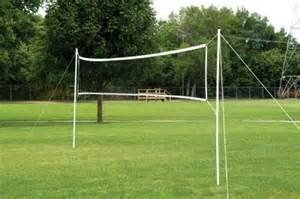 Bison portable volleyball badminton net system