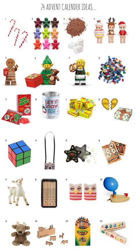 advent calendar gift ideas calendar template