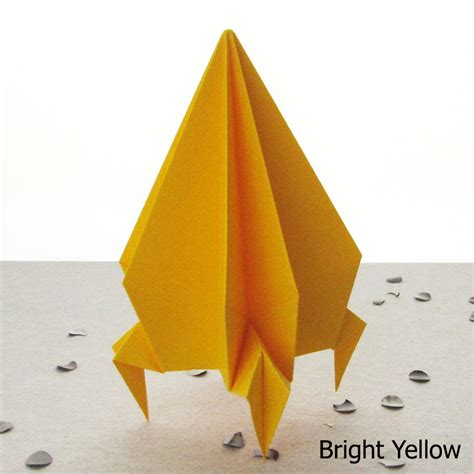 How To Make Origami Rocket - origami rocket spaceship decoration by the origami