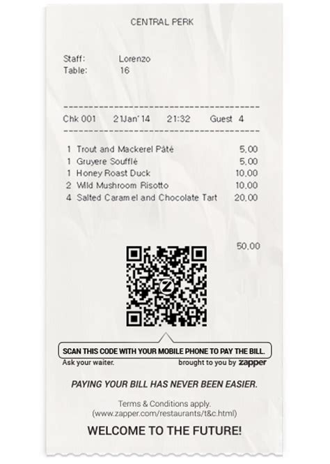 till receipt template zapper zapper for restaurants