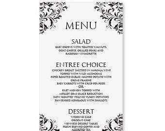 Menu Templates Free Download Word Http Webdesign14 Com Printables Pinterest Menu Wedding Menu Template Free Word