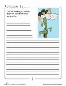and the beanstalk writing template and the beanstalk worksheet education