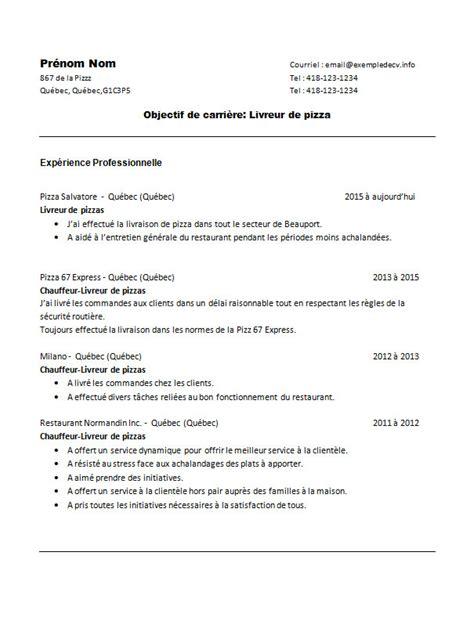 Exemple De Lettre De Motivation Livreur Modele Cv Livreur Pizza Lettre De Motivation 2017