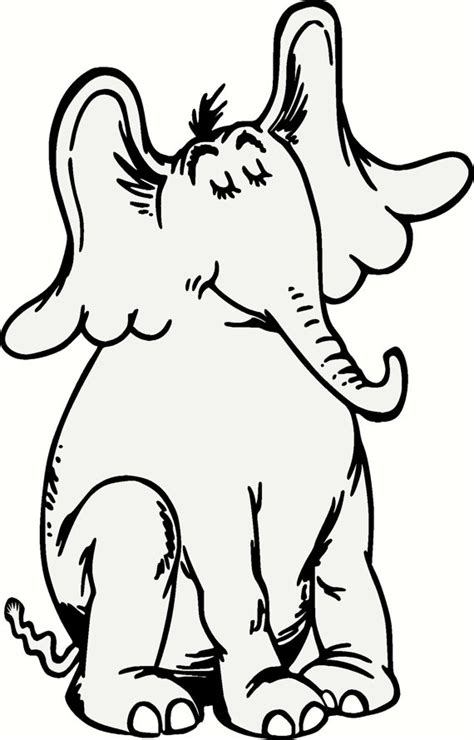 coloring pages horton the elephant dr seuss horton vinyl wall decal 2 foot tall