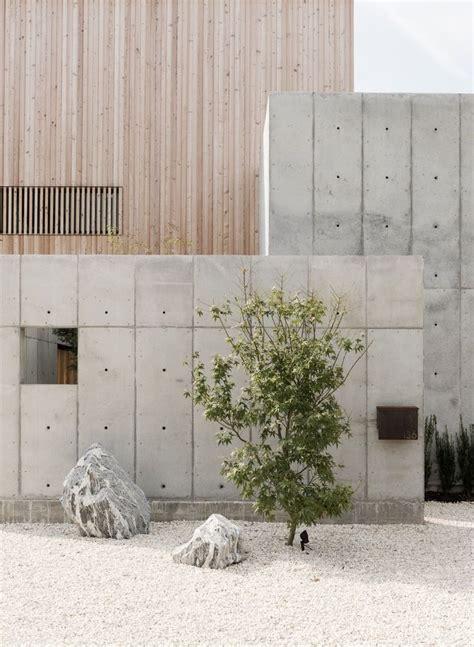 Textured Front Facade Modern Box Home | best 25 concrete facade ideas on pinterest facades