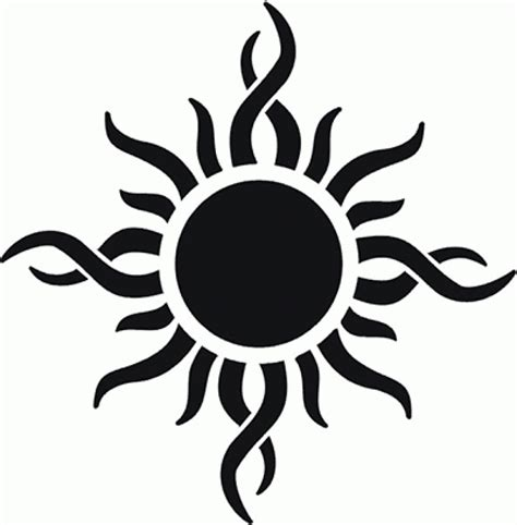 tattoo sun tribal 65 sun tattoos tribal sun designs with regard to