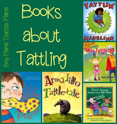 picture books for teachers books about tattling boy