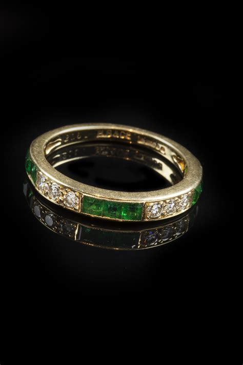 emerald and half eternity ring goodwins antiques