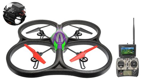 Drone V666 Wltoys Drone V666 5 8g Fpv 6 Axis 2 4g Quadcopter Drone With Hd Monitor Rtf Green W 4gb