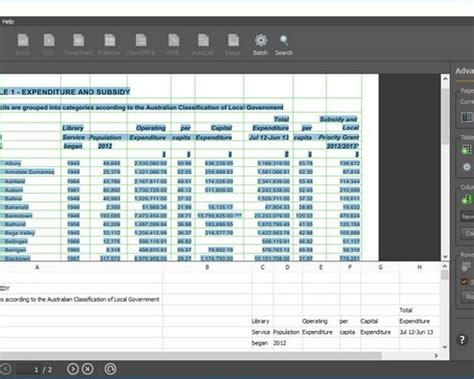 Converting Pdf To Excel Spreadsheet convert pdf image to excel spreadsheet buff
