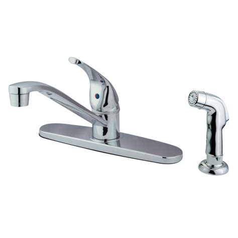 kingston brass kitchen faucets kingston brass kb5720sp single lever handle 8 quot kitchen