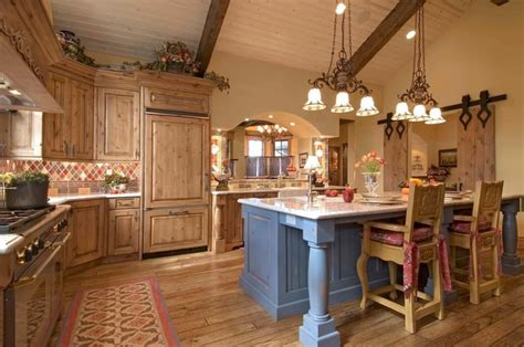 country style lighting country styled kitchen special aspects of decoration