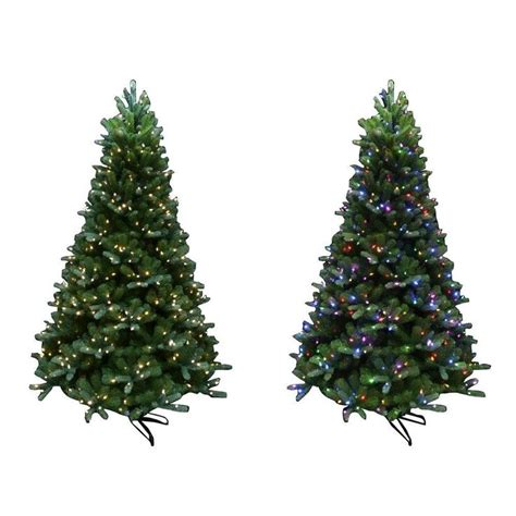 martha stewart faux christmas tree martha stewart living 7 5 ft indoor pre lit led mount everest spruce artificial tree