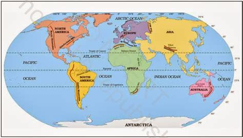 tropic of cancer upsctarget2014 ncert note major domains of earth