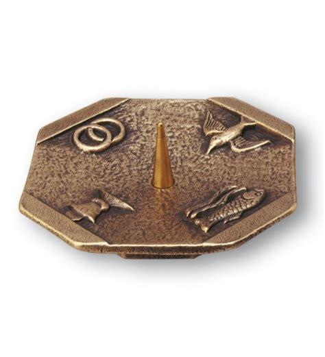 kerzenhalter 4 cm durchmesser kerzenhalter 4 christliche symbole bronze 216 14 cm