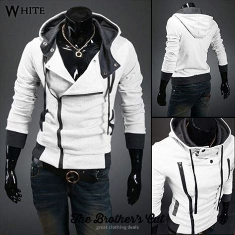 Levae Hodie White assassin s creed inspired hoodies