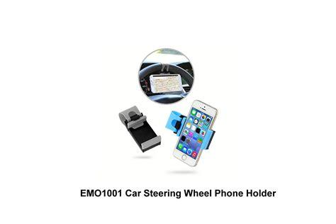 Car Holder Steering Wheel emo1001 car steering wheel phone holder