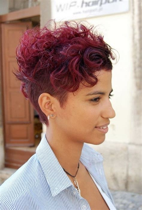 short hairhair straght on back curly on top 12 pretty short curly hairstyles for black women styles