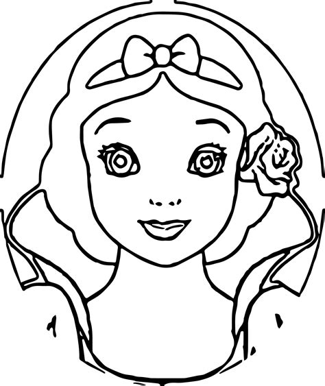 coloring book views snow white front view coloring pages wecoloringpage