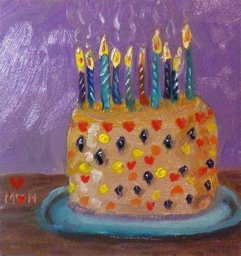 birthday painting oliver s painting happy birthday cake