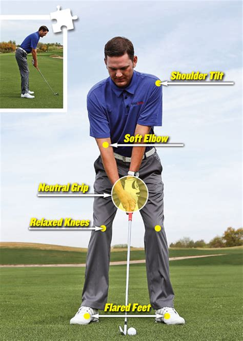 start golf swing with right shoulder 6 piece golf swing golf tips magazine