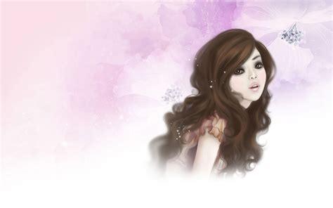 Wallpaper Of Cartoon Girl | 1680x1050 pretty cartoon girl desktop pc and mac wallpaper