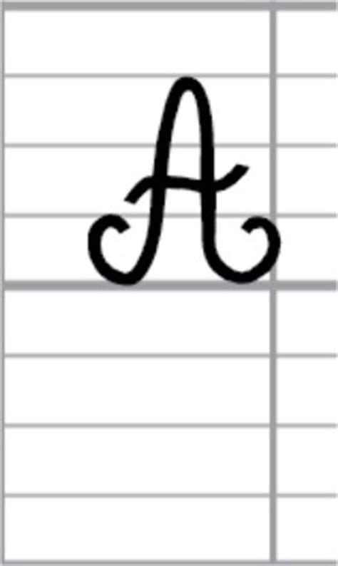lettere corsive maiuscole lettre a abcd ecole