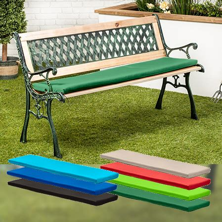 small metal garden bench water resistant cushion pad for small 2 seater metal bench
