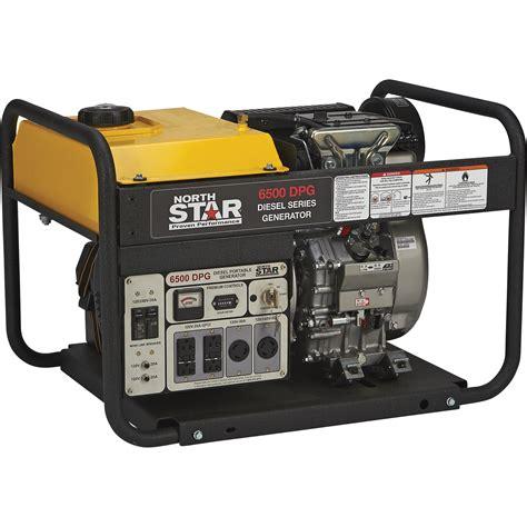 portable electric generator northstar portable diesel generator 6500 surge watts