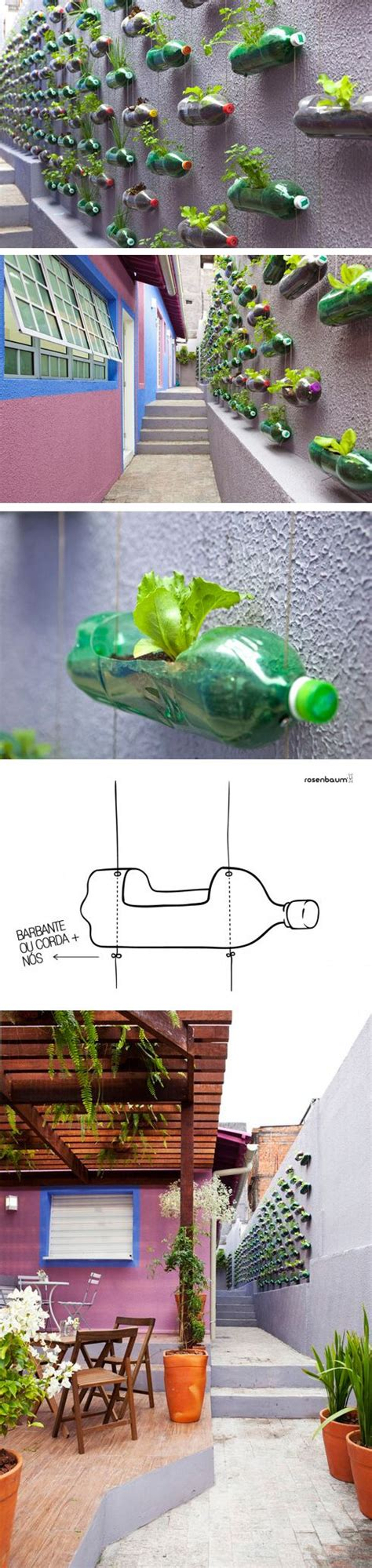 Pet Bottle Vertical Garden Gardens Pets And Flower On