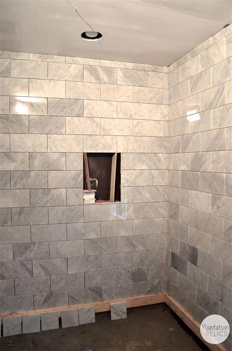 Bathroom Glass Shower Ideas by Carrara Marble Master Bath Flip House Update