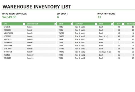 inventory template excel inventory card template images