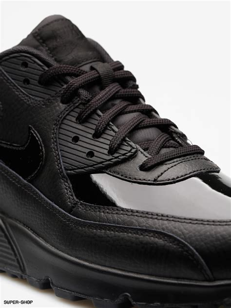 Shoes Leather Shoes Black nike shoes air max 90 leather wmn black black black