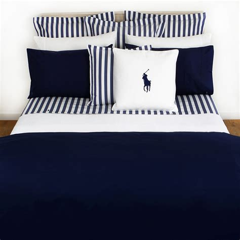 ralph polo player navy duvet cover from