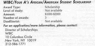 Uncf Mba Scholarship by Wibc Scholarship
