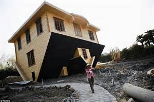 upside down house china builds upside down house as tourist attraction