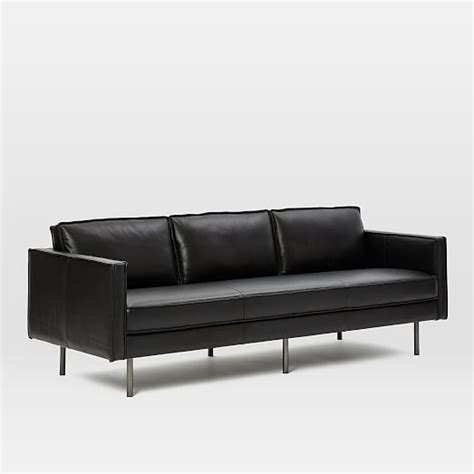 elm axel leather sofa axel leather sofa 89 quot elm