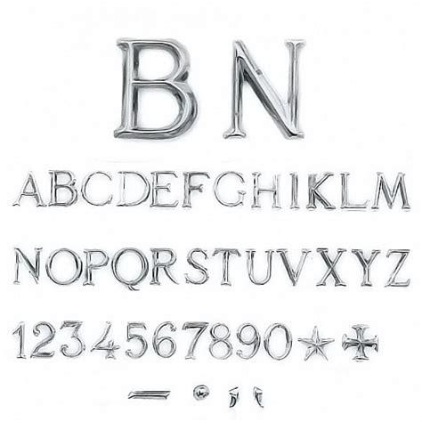 lettere e caratteri lettere e numeri romano in varie misure caratteri