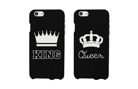king  queen matching couple phone cases   love matching gifts ideas