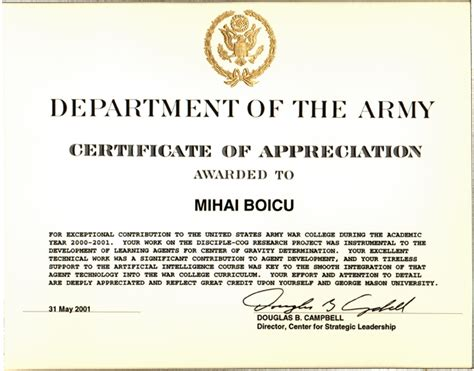 air force certificate of appreciation template gallery