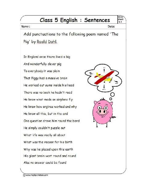 Punctuation Worksheets Pdf