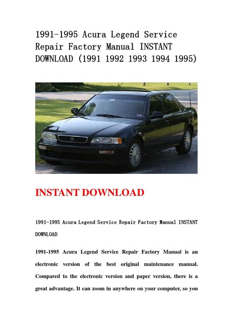 service manual 1995 acura tl service manual handbrake acura 3 2tl 2 5tl workshop service