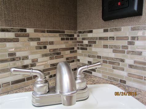 stick on backsplash tiles inspiration peel and stick smart tiles on a budget
