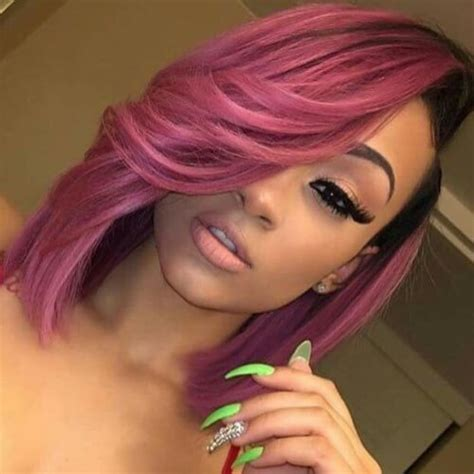 Black And Pink Hairstyles by Pink Weave Hairstyles Www Pixshark Images