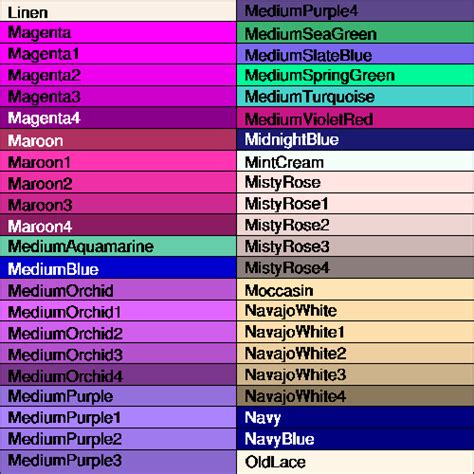 purple color names name colors