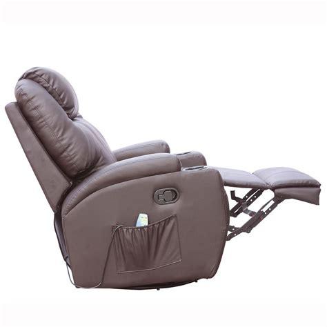 rocking recliner massage chair cinemo brown leather recliner chair rocking massage swivel