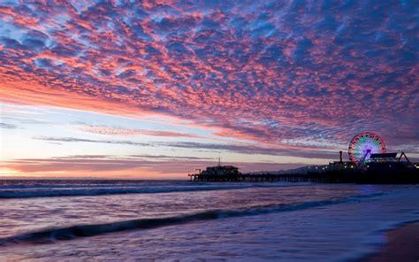 wallpaper coast california skyline usa sunset evening