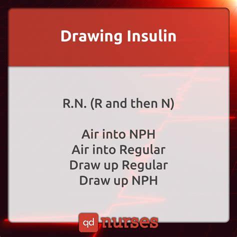 Drawing Insulin Nph And Regular