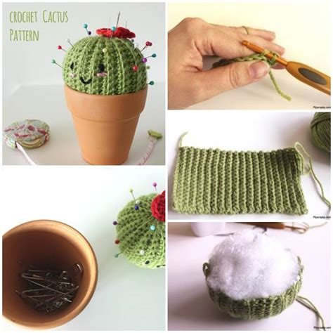 crochet cactus pin cushion quick crochet perfect